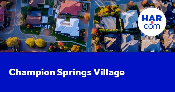 Champion Springs Village Homes For Sale And Rent Harcom