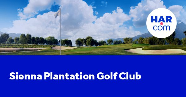 Sienna Plantation Golf Club, Missouri City, Texas 77459 ...